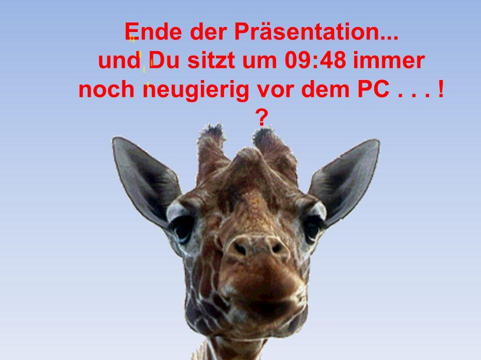 Ende der Präsentation... und Du sitzt um 09:50 immer noch neugierig vor dem PC... ! ?
