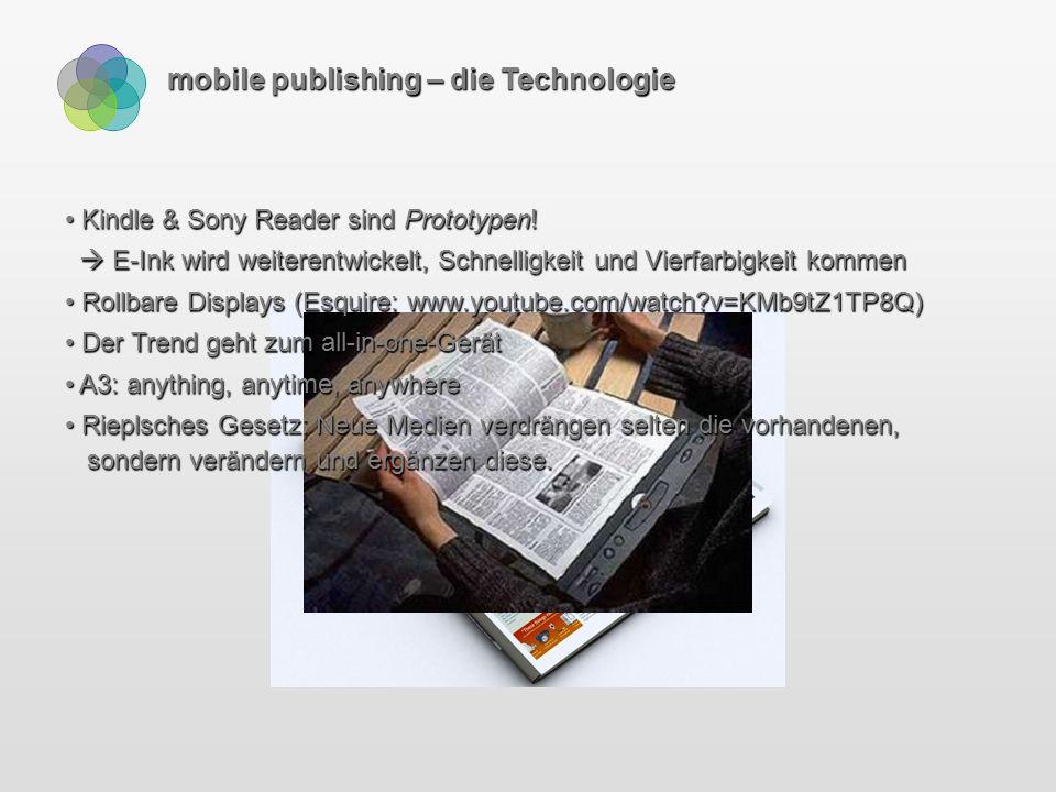 mobile publishing – Smartphones 3G: Smartphones der 3. Generation (UMTS)