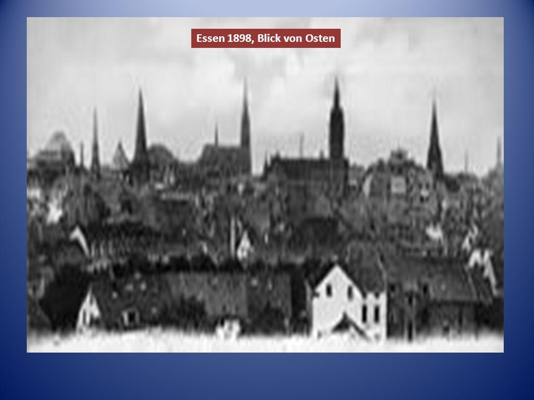 Essen 1898, Blick von Osten