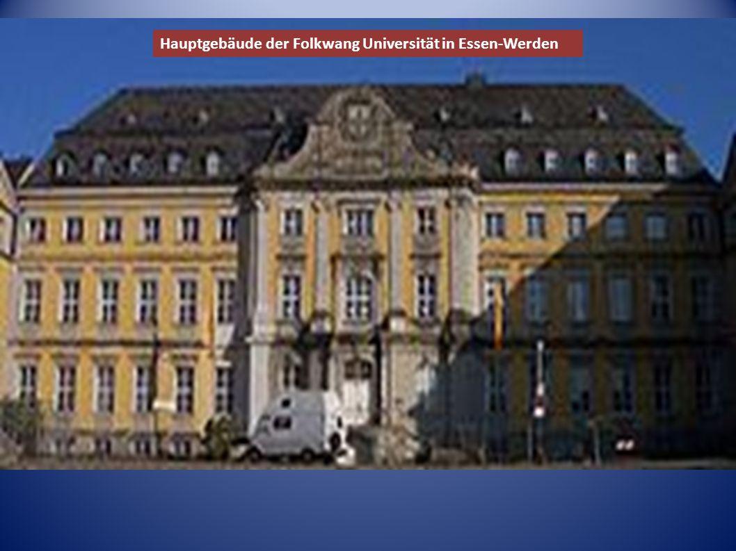 Hauptgebäude der Folkwang Universität in Essen-Werden