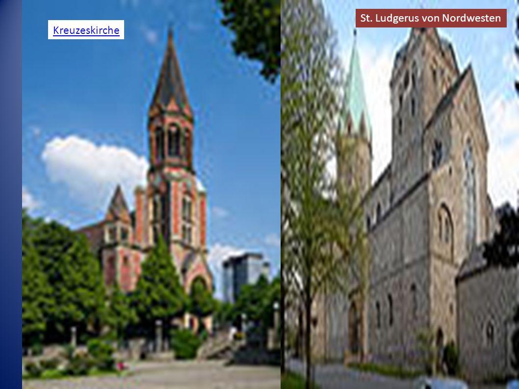 Kreuzeskirche St. Ludgerus von Nordwesten