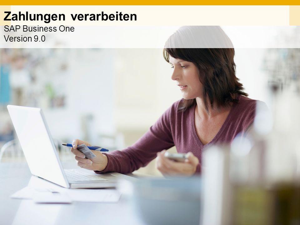 INTERN Zahlungen verarbeiten SAP Business One Version 9.0