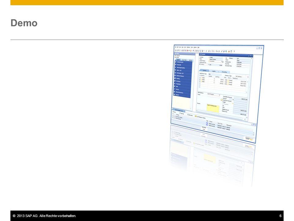 ©2013 SAP AG. Alle Rechte vorbehalten.6 Demo