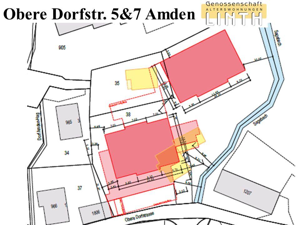 Projekt Obere Dorfstr.5&7 Amden 6/2016 Herausforderungen Parzelle Baugrund.