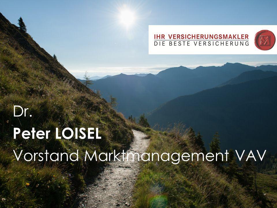 Jörg Roth 03-08 Dr. Peter LOISEL Vorstand Marktmanagement VAV