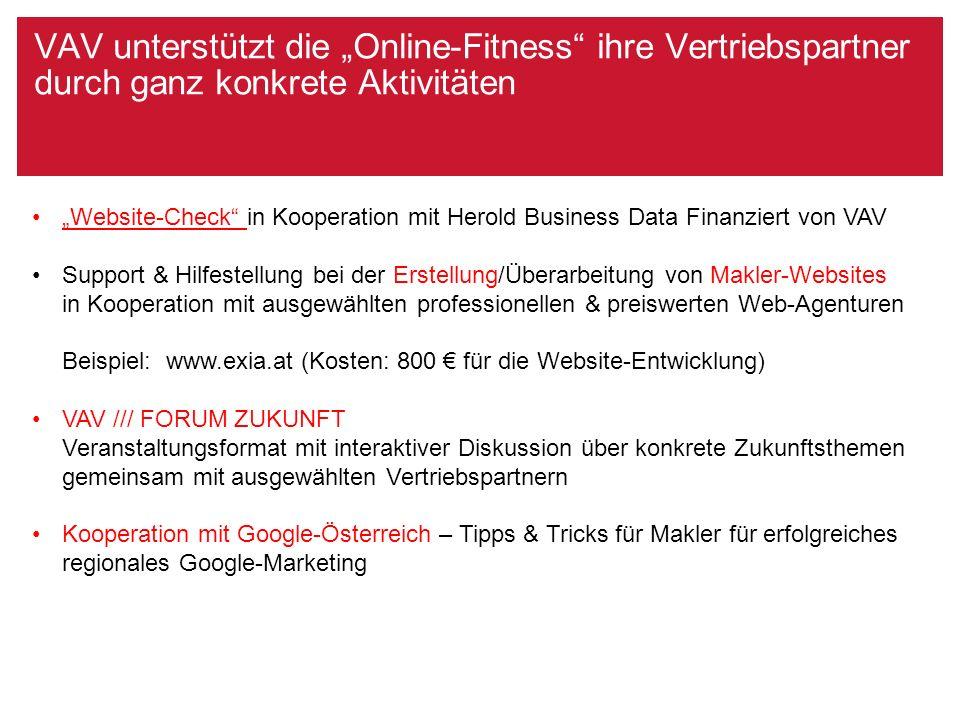 """VAV unterstützt die """"Online-Fitness"""" ihre Vertriebspartner durch ganz konkrete Aktivitäten """"Website-Check"""" in Kooperation mit Herold Business Data Fin"""