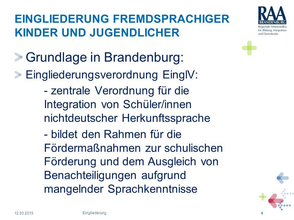 EINGLIEDERUNG FREMDSPRACHIGER KINDER UND JUGENDLICHER Lebt die Schule ein Konzept für die durchgängige Sprachförderung (für Nicht- Lehrkräfte: Deutsch wird nicht nur im Deutschunterricht gelernt, sondern auch in allen anderen Fächern!).