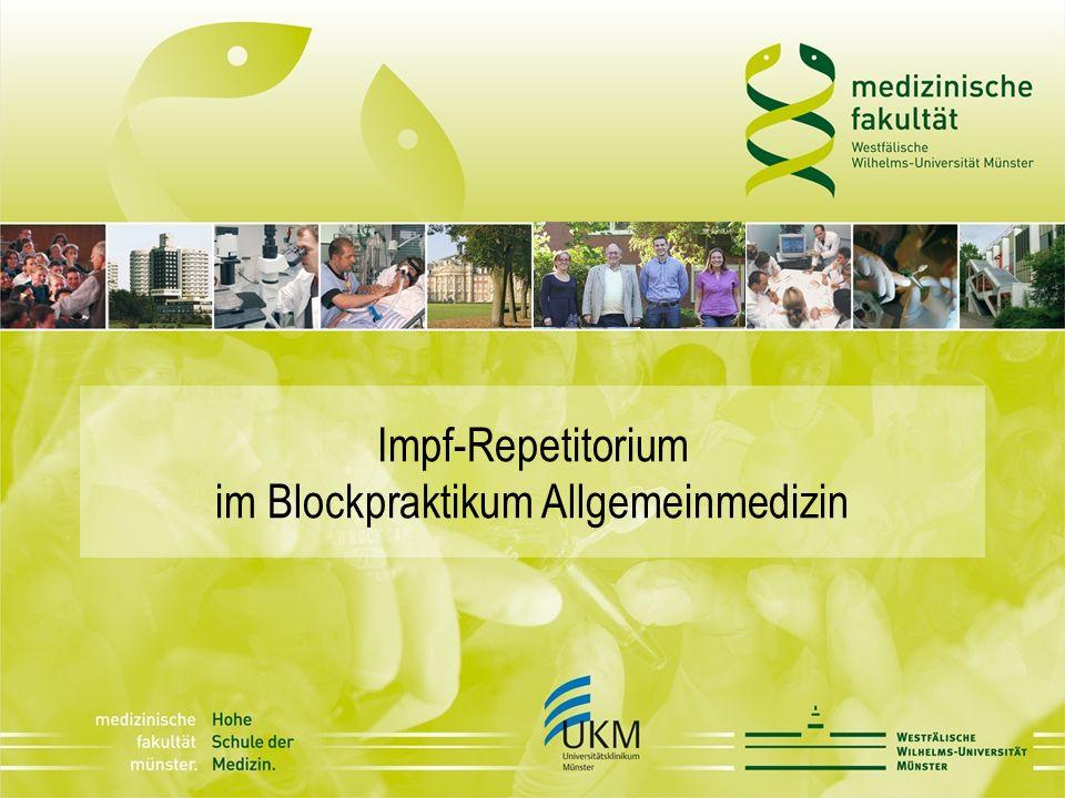 Impf-Repetitorium im Blockpraktikum Allgemeinmedizin