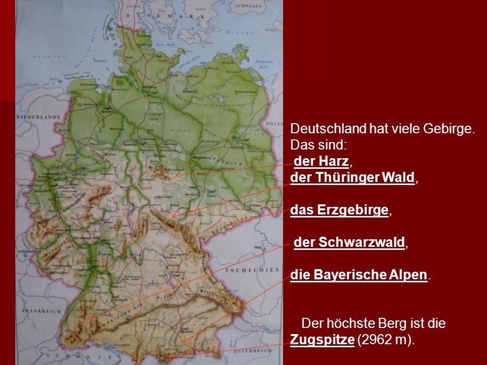Die größten Flüsse Deutschlands sind der Rhein, die Weser, Die größten Flüsse Deutschlands sind der Rhein, die Weser, die Elbe, die Oder und die Donau