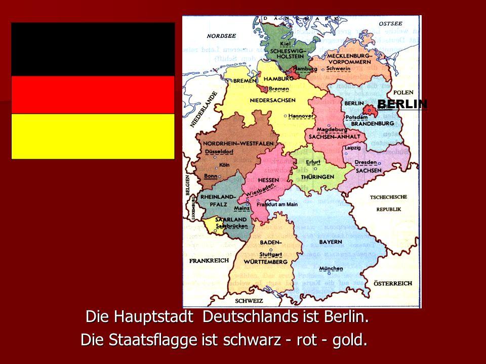 Deutschland liegt in der Mitte Europas. Deutschland liegt in der Mitte Europas. Seine Nachbarn sind Dänemark,Polen, die Tschechische Seine Nachbarn si