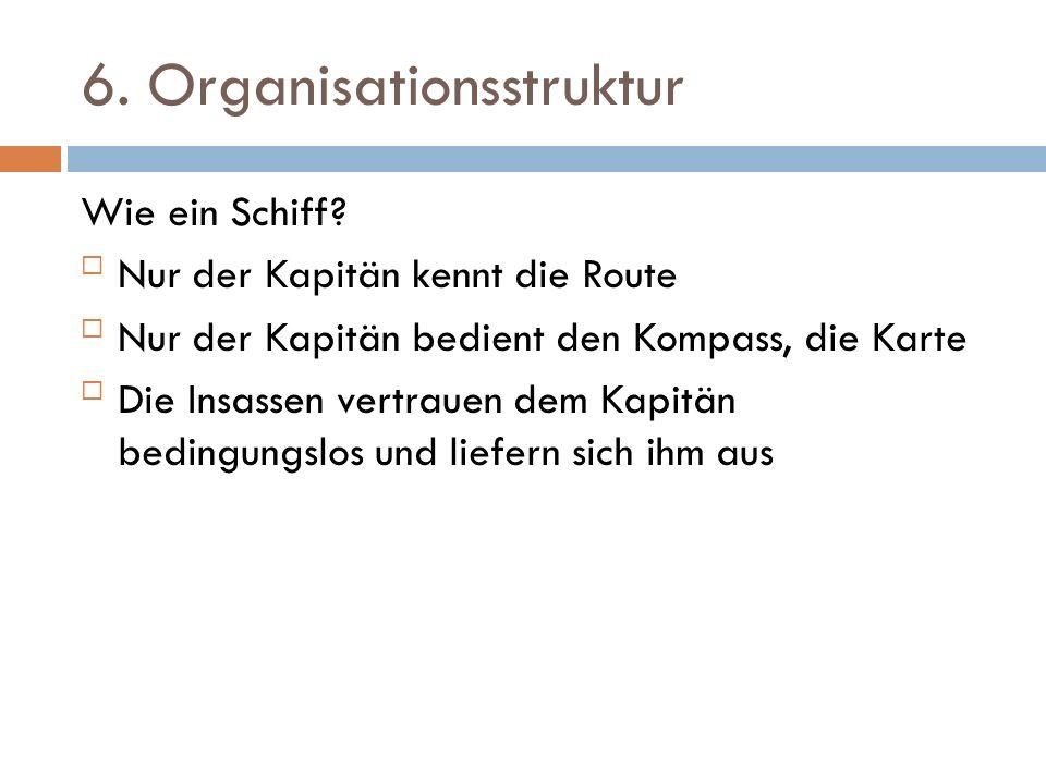 6.Organisationsstruktur Wie ein Schiff.