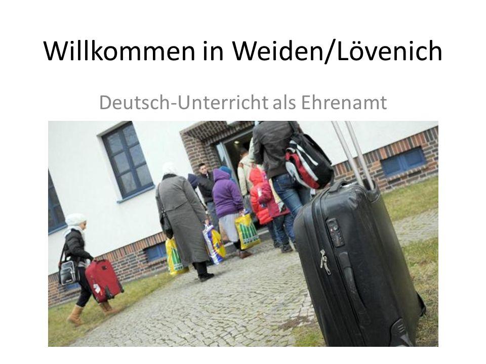 Willkommen in Weiden/Lövenich Deutsch-Unterricht als Ehrenamt