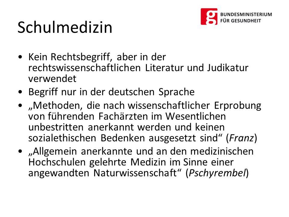 """Kein Rechtsbegriff, aber in der rechtswissenschaftlichen Literatur und Judikatur verwendet Begriff nur in der deutschen Sprache """"Methoden, die nach wi"""