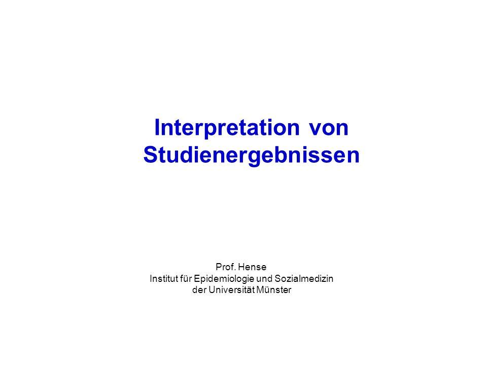 Interpretation von Studienergebnissen Prof.