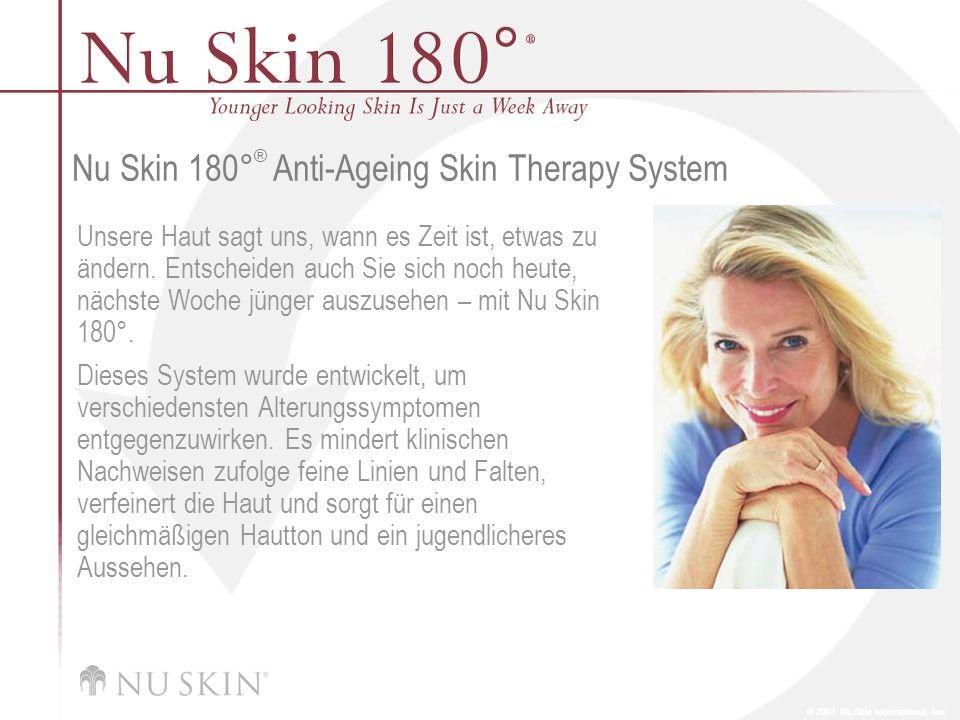 © 2001 Nu Skin International, Inc Nu Skin 180 ° ® Anti-Ageing Skin Therapy System Unsere Haut sagt uns, wann es Zeit ist, etwas zu ändern. Entscheiden