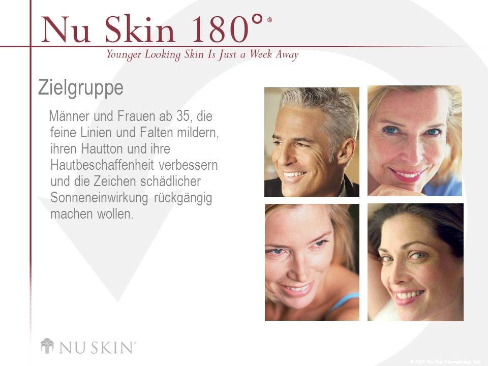 © 2001 Nu Skin International, Inc Zielgruppe Männer und Frauen ab 35, die feine Linien und Falten mildern, ihren Hautton und ihre Hautbeschaffenheit v