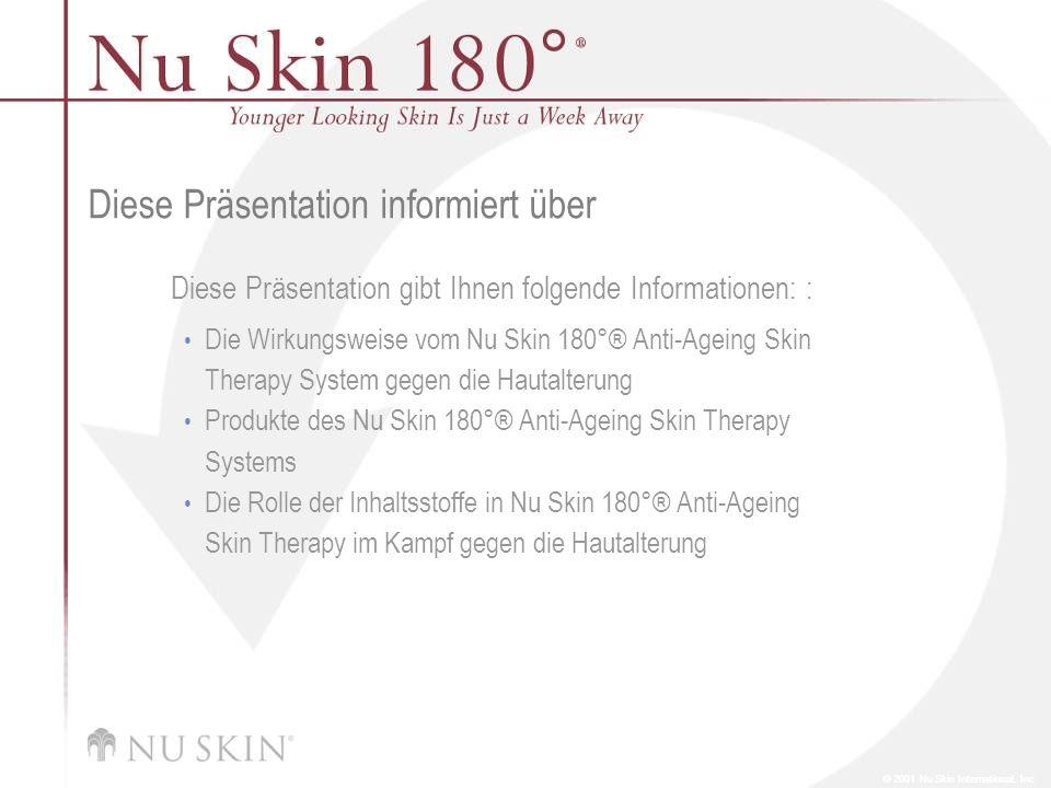 © 2001 Nu Skin International, Inc Diese Präsentation informiert über Diese Präsentation gibt Ihnen folgende Informationen: : Die Wirkungsweise vom Nu