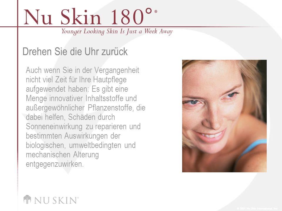 © 2001 Nu Skin International, Inc Nu Skin 180 ° ® Night Complex Nu Skin 180° Night Complex enthält Kreatin zur Unterstützung der DNA-Reparatur, schützt vor Schädigungen durch freie Radikale und stärkt den Eigenschutz der Haut.