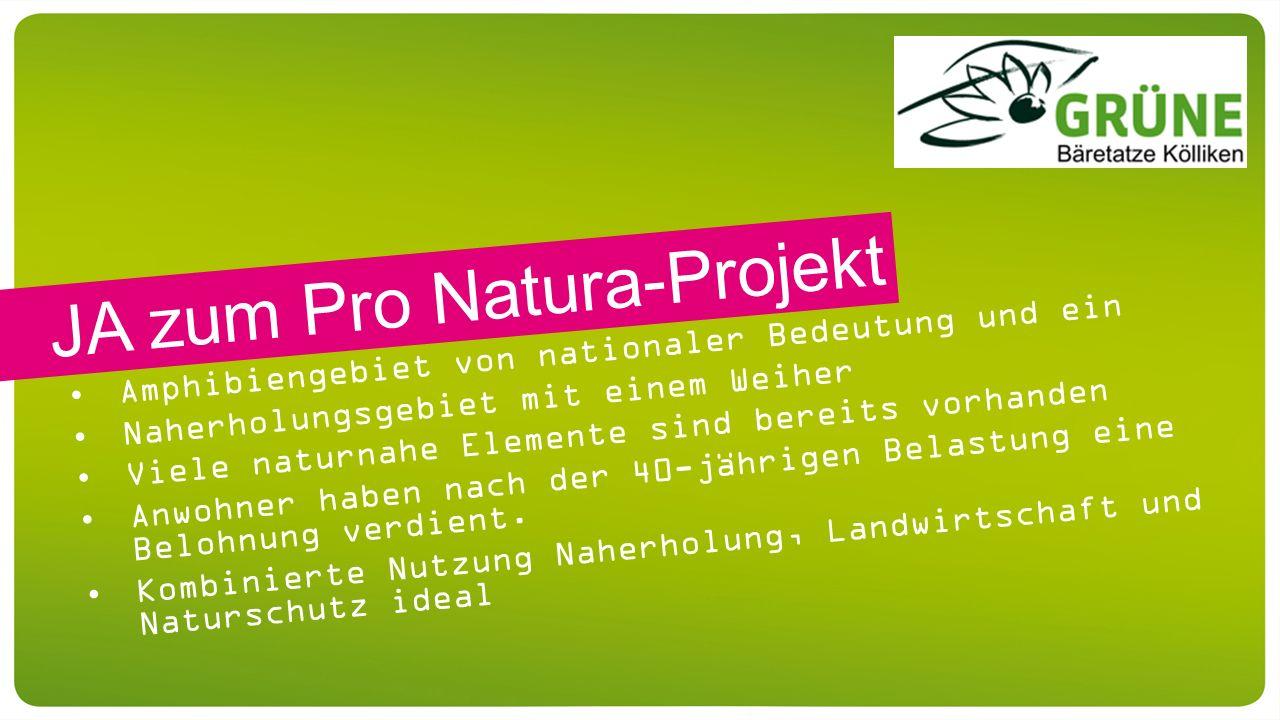 Amphibiengebiet von nationaler Bedeutung und ein Naherholungsgebiet mit einem Weiher Viele naturnahe Elemente sind bereits vorhanden Anwohner haben na