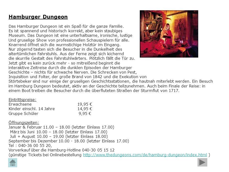 Hamburger Dungeon Das Hamburger Dungeon ist ein Spaß für die ganze Familie. Es ist spannend und historisch korrekt, aber kein staubiges Museum. Das Du