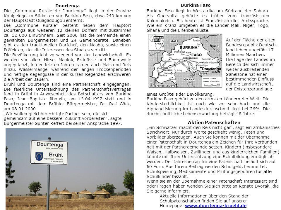 """Burkina Faso Dourtenga Die """"Commune Rurale de Dourtenga liegt in der Provinz Koulpelogo im Südosten von Burkina Faso, etwa 240 km von der Hauptstadt Ouagadougou entfernt."""
