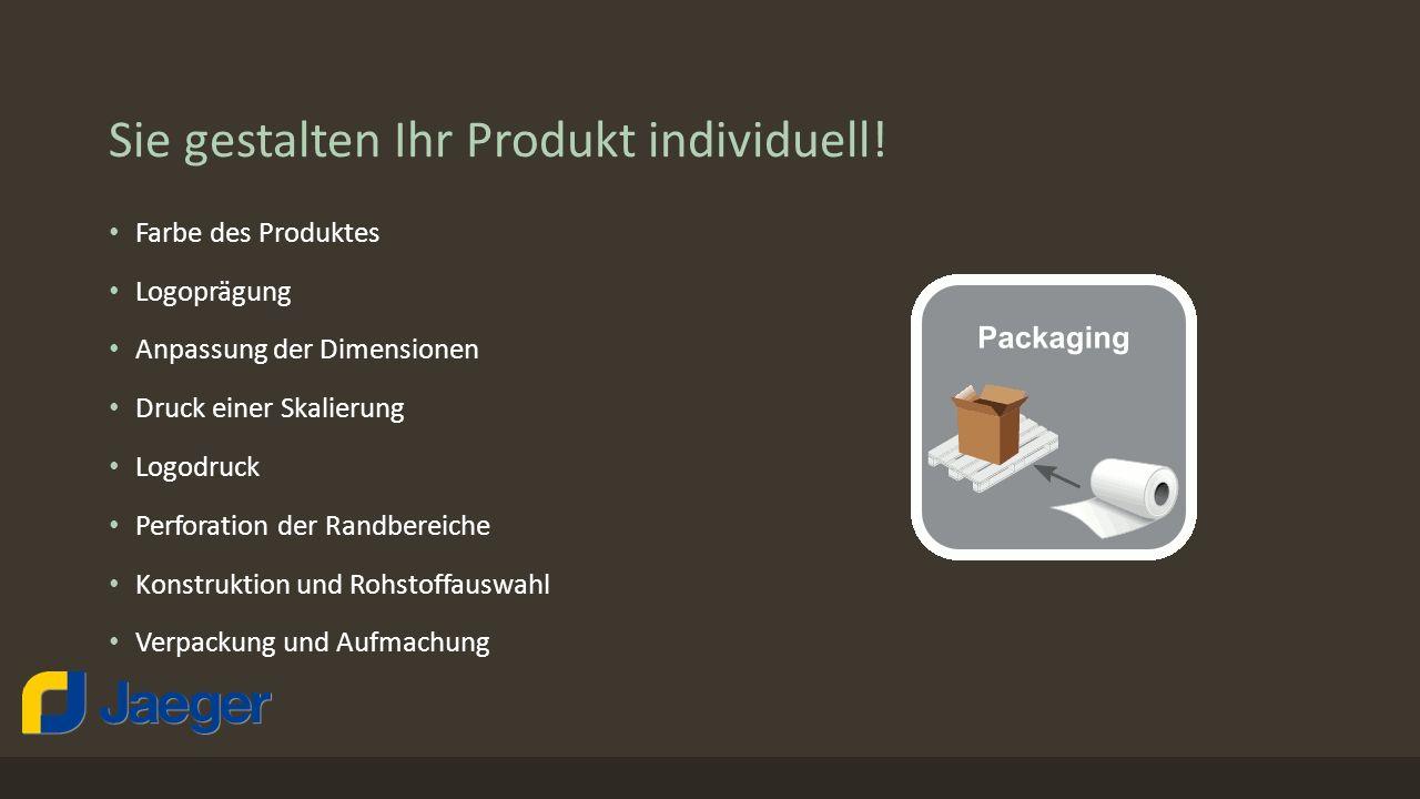 Sie gestalten Ihr Produkt individuell.