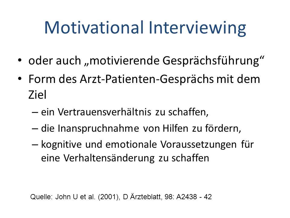 """Motivational Interviewing oder auch """"motivierende Gesprächsführung"""" Form des Arzt-Patienten-Gesprächs mit dem Ziel – ein Vertrauensverhältnis zu schaf"""