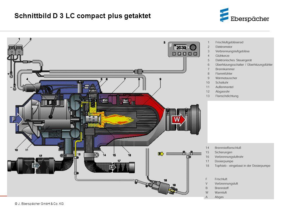 © J. Eberspächer GmbH & Co. KG Schnittbild D 3 LC compact plus getaktet