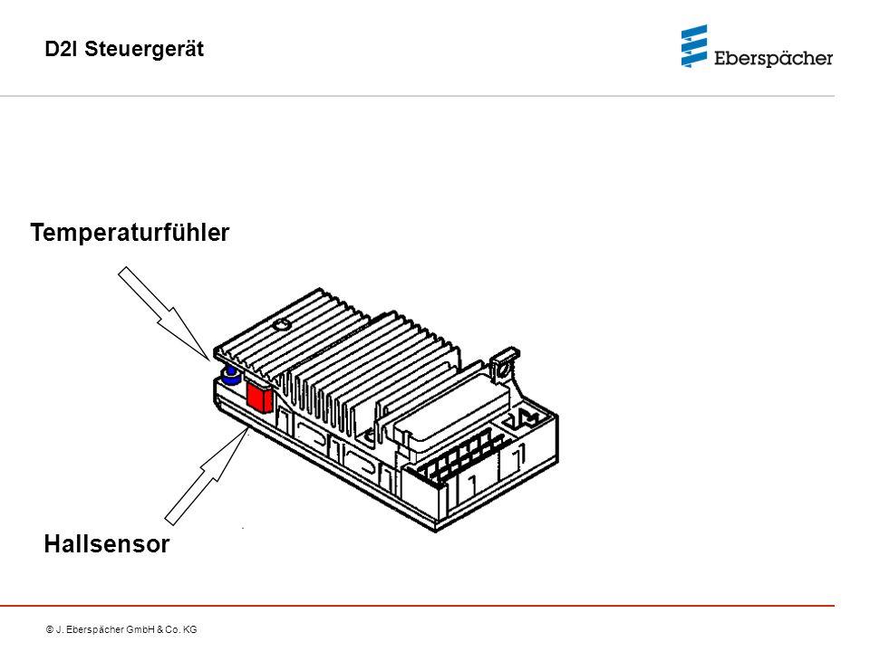 © J. Eberspächer GmbH & Co. KG Temperaturfühler Hallsensor D2I Steuergerät