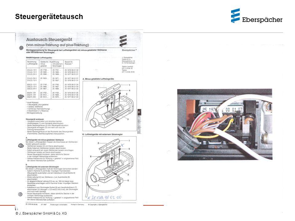 © J. Eberspächer GmbH & Co. KG Steuergerätetausch