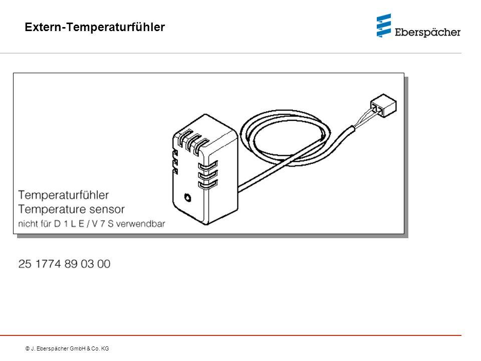 © J. Eberspächer GmbH & Co. KG Extern-Temperaturfühler