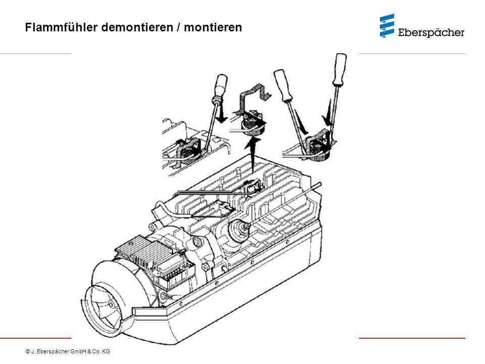 © J. Eberspächer GmbH & Co. KG Flammfühler demontieren / montieren