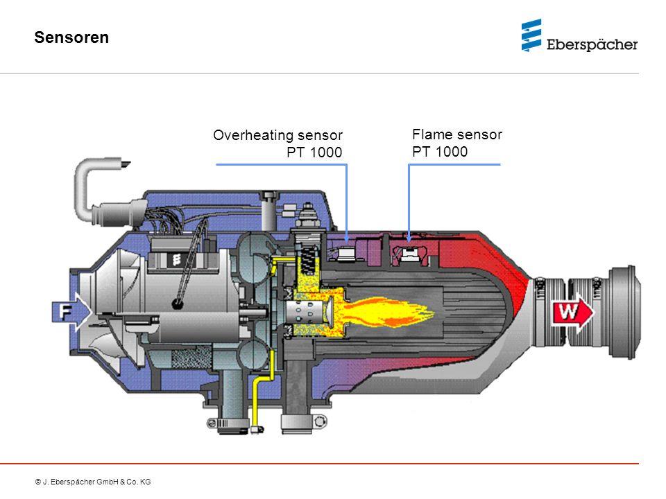 © J. Eberspächer GmbH & Co. KG Sensoren Overheating sensor PT 1000 Flame sensor PT 1000