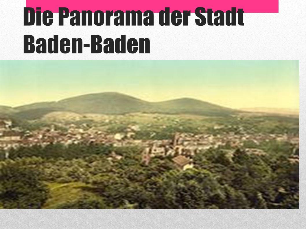 Die Panorama der Stadt Baden-Baden