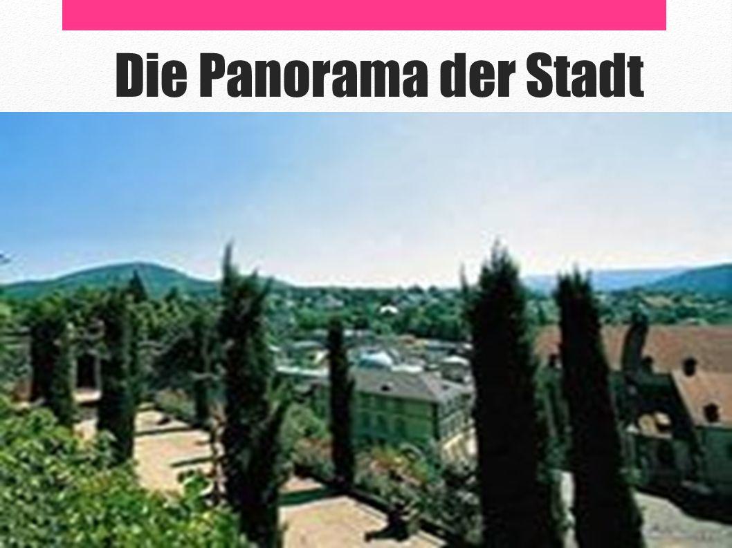 Die Panorama der Stadt