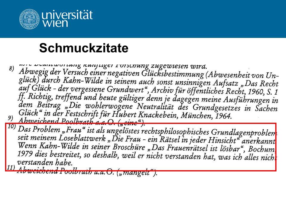 Verfassen wissenschaftlicher Texte Formale Zitierregeln – Zitiertechnik  einheitliche Zitierweise  Auflage als Hochzahl Beispiel: Koziol/Welser, Bürgerliches Recht I 13 (2006) 123.