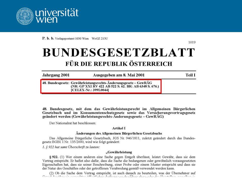 Univ.-Prof. Dr. Ernst Karner WS 2011/12