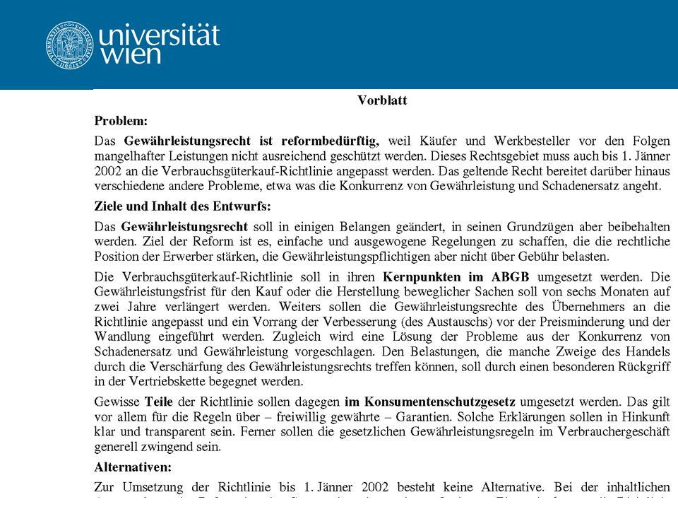Univ.-Prof. Dr. Ernst Karner WS 2011/12 Juristische Methodenlehre