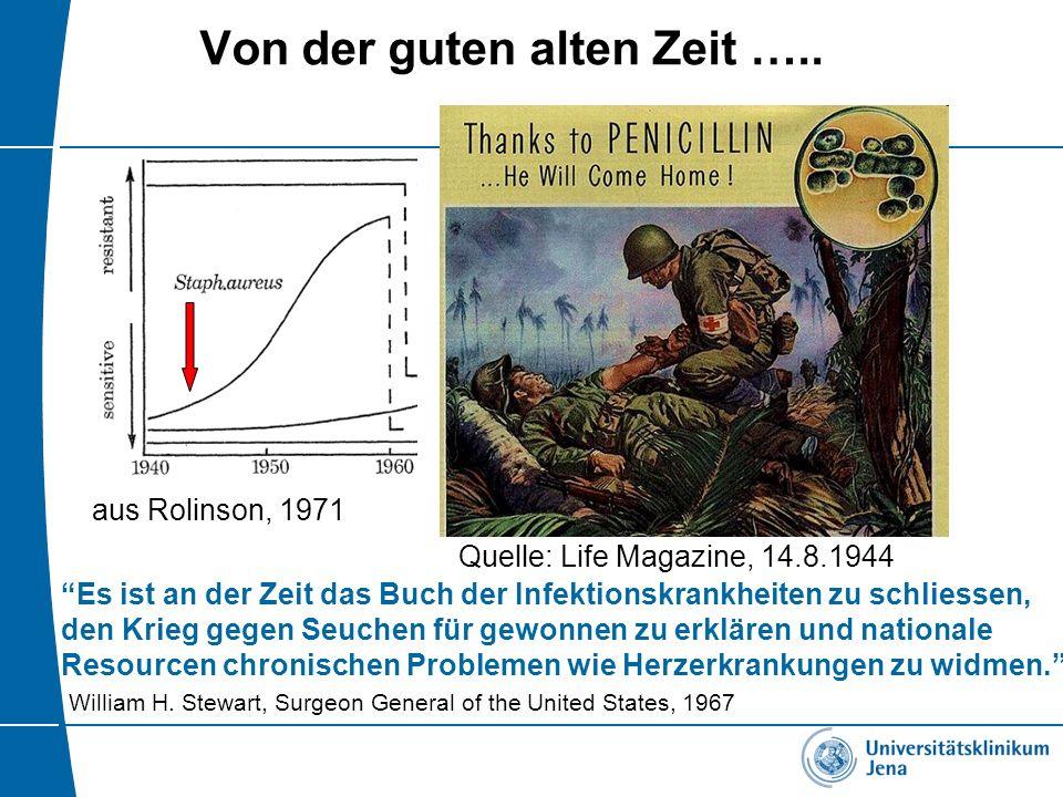 """Von der guten alten Zeit ….. Quelle: Life Magazine, 14.8.1944 aus Rolinson, 1971 """"Es ist an der Zeit das Buch der Infektionskrankheiten zu schliessen,"""