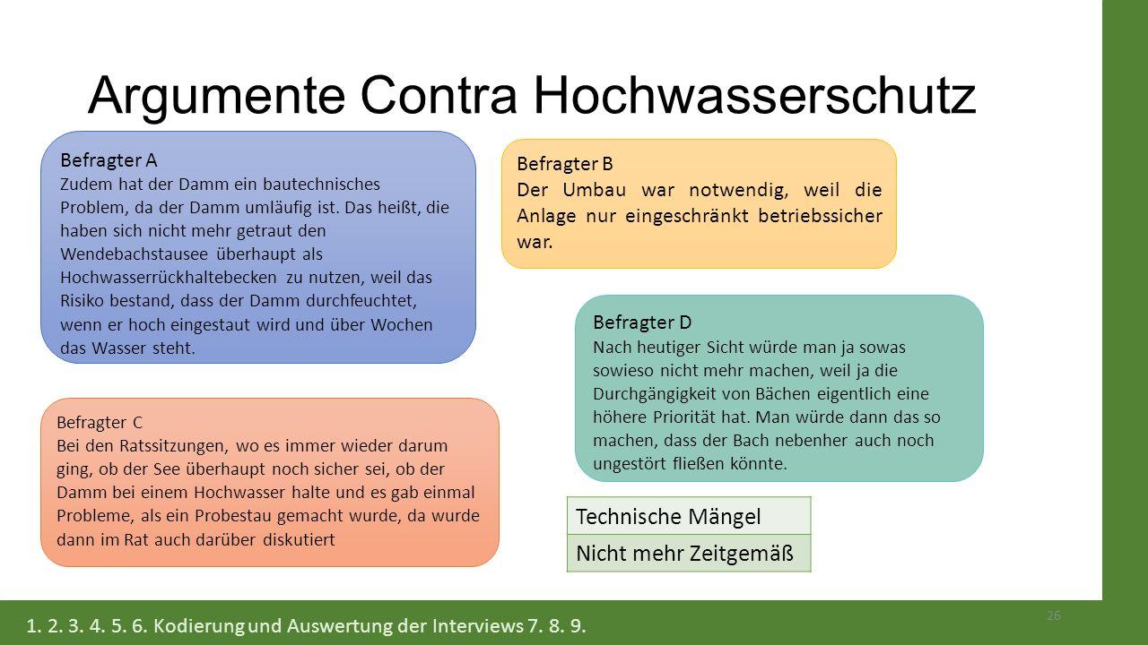 Argumente Contra Hochwasserschutz Befragter A Zudem hat der Damm ein bautechnisches Problem, da der Damm umläufig ist. Das heißt, die haben sich nicht