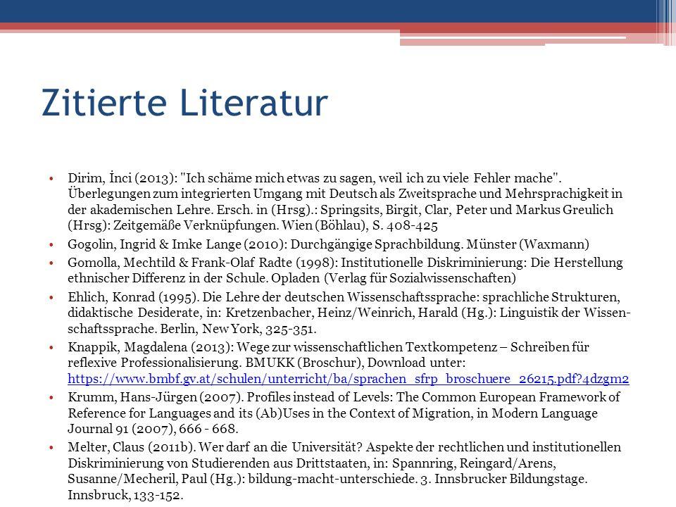 Zitierte Literatur Dirim, İnci (2013):