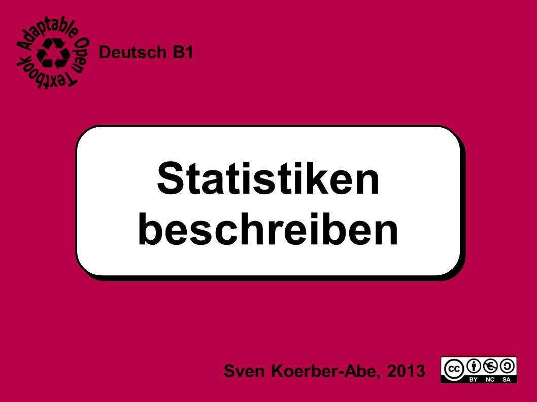 Statistiken beschreiben Deutsch B1 Sven Koerber-Abe, 2013