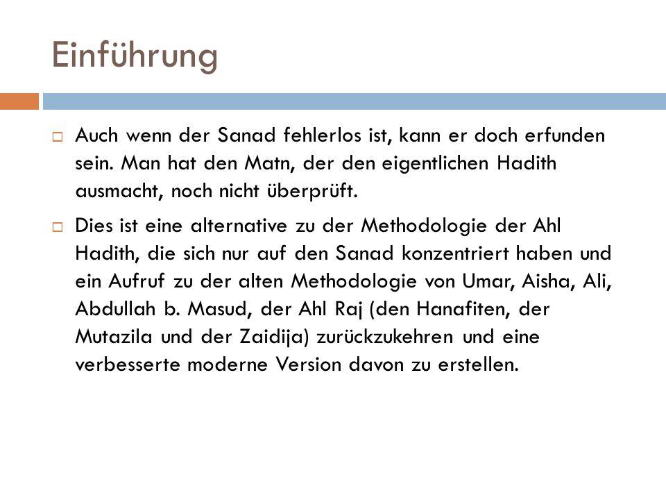 "Quelle  ""Alternatif Hadis Metodolojisi  M."
