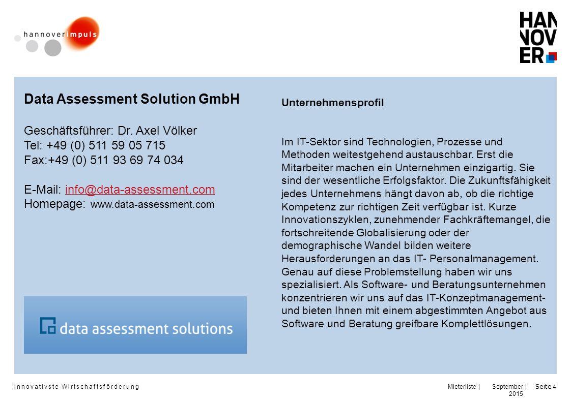 Innovativste Wirtschaftsförderung | | September 2015 Seite 15 RR Vertrieb und POS GmbH Geschäftsführer: Hugo Reissner Thomas Rux Tel.: +49 (0) 511 27 04 66 0 Fax: +49 (0) 511 27 04 66 22 e-mail: office@rr-vp.euoffice@rr-vp.eu Homepage: Unternehmensprofil RR Vertrieb + POS GmbH entwickelt leistungsfähige Geschäftsmodelle für Vertriebs- und POS-Systeme und setzt diese auf Basis von detaillierten Businessplänen für Markenhersteller im Konsumgüterbereich schlüsselfertig um.