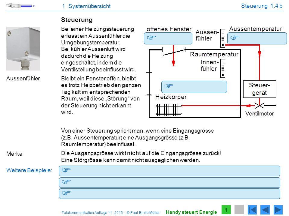 Telekommunikation Auflage 11 - 2015 - © Paul-Emile Müller Schaltuhr steuert die Treppenhausbeleuchtung. Das Potenziometer steuert die Lautstärke. Prog