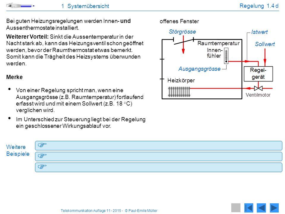 Telekommunikation Auflage 11 - 2015 - © Paul-Emile Müller 1 Systemübersicht IT - Systeme 1.5 a IT - Systeme Die Installationen von informationstechnologischen Systemen (IT - Systeme) dienen der Übertragung von Signalen.
