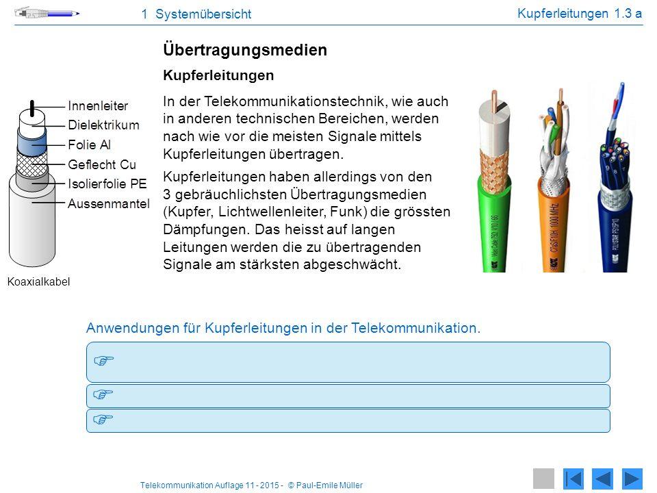 Telekommunikation Auflage 11 - 2015 - © Paul-Emile Müller -Anschlussleitungen von Carriern (z.B.