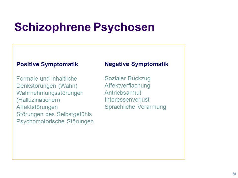 39 Unipolare Bipolare Hohe Komorbidität mit Suchterkrankungen Insbesondere mit bipolaren Affektpsychosen Affektive Psychosen