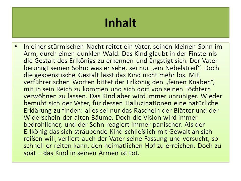 Vertonungen Der Text wurde sehr schnell beliebt und häufig in Musik gesetzt: Insbesondere die Vertonung Franz Schuberts wird heute oft gesungen.