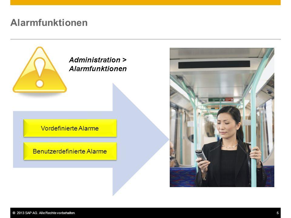 ©2013 SAP AG.Alle Rechte vorbehalten.6 Vordefinierte Alarme  Abweichung vom prozent.